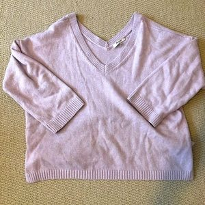 LILAC MADEWELL 3/4 SLEEVE SWEATER